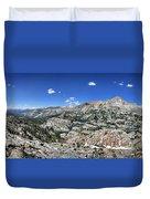 Medley Lake Basin Panorama From High Above - Sierra Duvet Cover