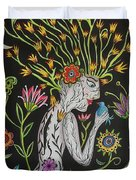 Medusa De Flores Duvet Cover
