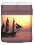 Medusa Sailing Ship Duvet Cover