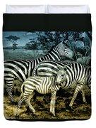 Meet The Zebras Duvet Cover
