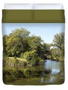 Meeting Of Two Rivers Duvet Cover