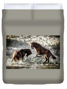 Meeting On The River  Duvet Cover