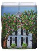 Meeting Street In Bloom Duvet Cover