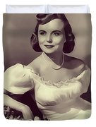 Meg Randall, Vintage Actress Duvet Cover