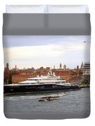 Mega Luxury Yacht The Carinthia Vll In Venice, Italy Duvet Cover
