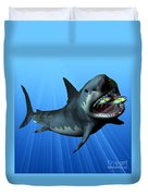 Megalodon Duvet Cover by Corey Ford