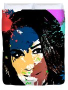 Meghan Markle Pop Art Duvet Cover