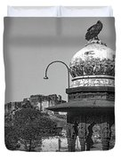 Mehrangarh Fort - Approach With Caution Bw Duvet Cover