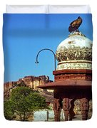 Mehrangarh Fort - Approach With Caution Duvet Cover