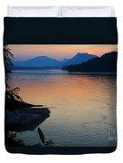 Mekong River Sunset Duvet Cover