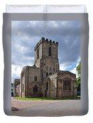 Melbourne Parish Church In Derbyshire Duvet Cover