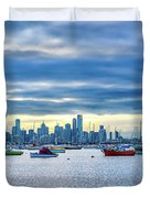Melbourne Skyline Duvet Cover