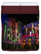 Melbourne Town Hall  With Christmas Light 1 Duvet Cover