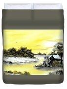 Mellow Yellow Sold Duvet Cover