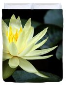 Mellow Yellow Water Lily Duvet Cover