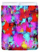 Melting Flowers Abstract  Duvet Cover