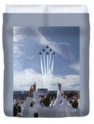 Members Of The U.s. Naval Academy Cheer Duvet Cover