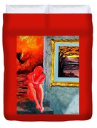 Memoirs Of A Bloody Sunset Duvet Cover