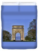 Memorial Arch Valley Forge Duvet Cover