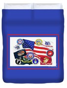 Memorial Day Collage Duvet Cover