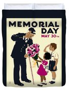 Memorial Day Poster Wpa Duvet Cover