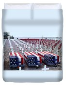 Memorial Day Remembrance At The Beach Duvet Cover