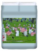 Memorial Day Salute Duvet Cover