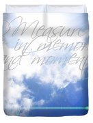 Memories And Moments Duvet Cover