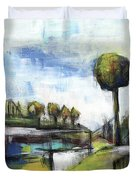 Memories From The Park Duvet Cover