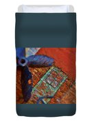 Memories Of A Fishing Town. Duvet Cover