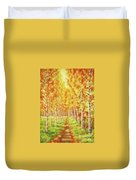 Memories Of The Birch Country Duvet Cover