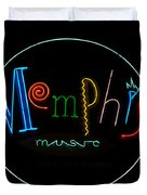 Memphis Neon Sign Duvet Cover