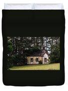 Mendocino Schoolhouse Duvet Cover by Grant Groberg