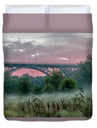 Mendota Bridge Sunrise Duvet Cover