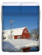 Menno Hof In The Snow 2 Duvet Cover