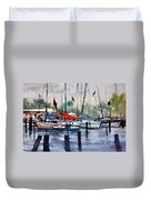 Menominee Marina Duvet Cover by Ryan Radke