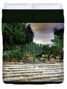 Menorah At Knesset Duvet Cover
