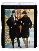 Mens Fashion, 1919 Duvet Cover