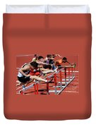Mens Hurdles 2 Duvet Cover