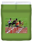 Mens Hurdles Duvet Cover