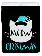 Meow Christmas Duvet Cover