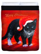 Meow Christmas Kitty Duvet Cover
