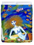 Mer Quarrel Duvet Cover by Sushila Burgess