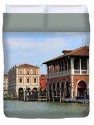 Mercato Di Rialto In Venice Italy Duvet Cover
