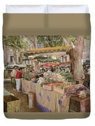 Mercato Provenzale Duvet Cover by Guido Borelli
