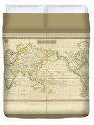 Mercator's Chart Duvet Cover