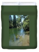 Merced River Banks Duvet Cover