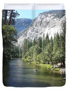 Merced River In Yosemite Duvet Cover