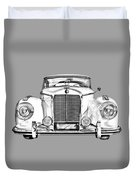 Mercedes Benz 300 Luxury Car Illustration Duvet Cover