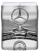 Mercedes Benz Hood Ornament 2 Duvet Cover by Jill Reger